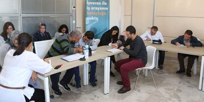Nilüfer'de 50 kişi işverenle buluştu