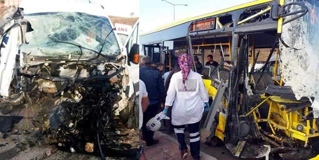 Öğrenci servisi ile halk otobüsü çarpıştı! 19 öğrenci yaralı