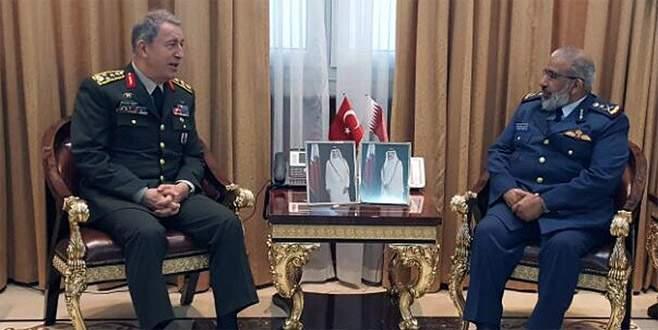 Genelkurmay Başkanı Akar Katarlı mevkidaşıyla görüştü