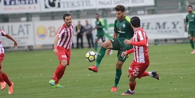 Bursaspor hazırlık maçında berabere kaldı