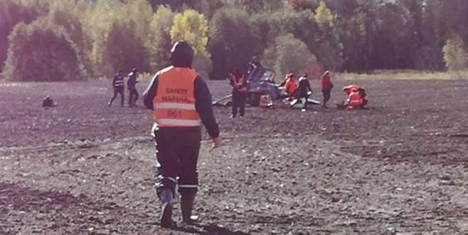 Avrupa Ralli Şampiyonası'nda helikopter düştü
