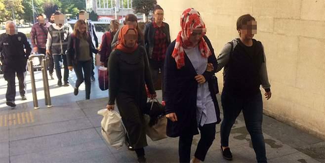 Bursa'da 17 kişi adliyede