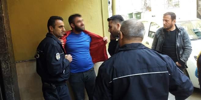Bursa'da madde bağımlısı genç ailesine kızınca…