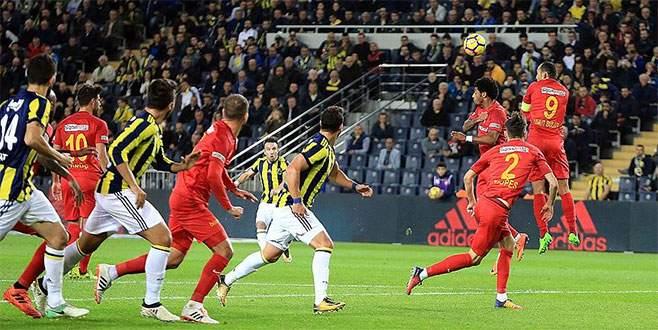 Fenerbahçe sahasında Kayserispor ile beraberliğe razı oldu