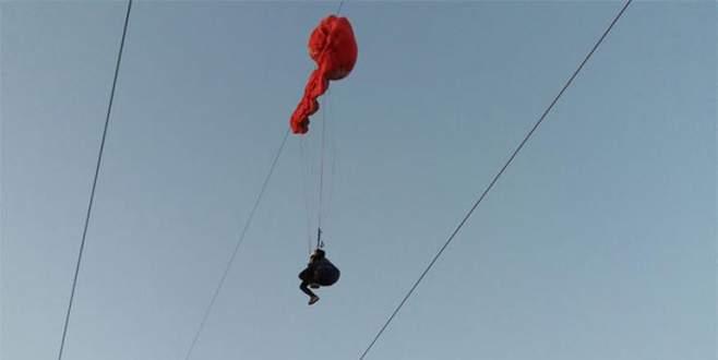 Ters rüzgara kapılınca… Yüksek gerilim hattında ölüm kalım savaşı