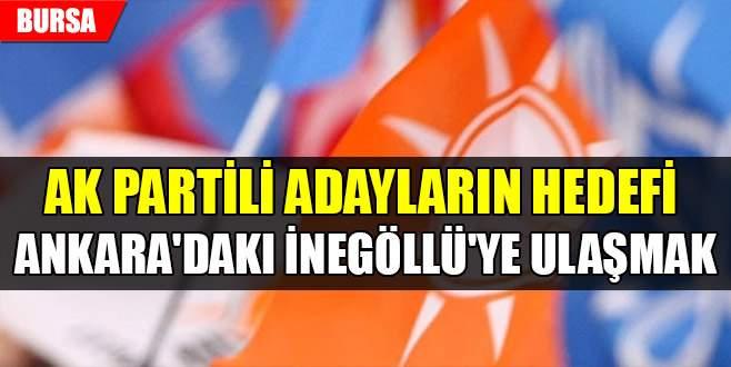 AK Partili adayların hedefi Ankara'daki İnegöllü'ye ulaşmak