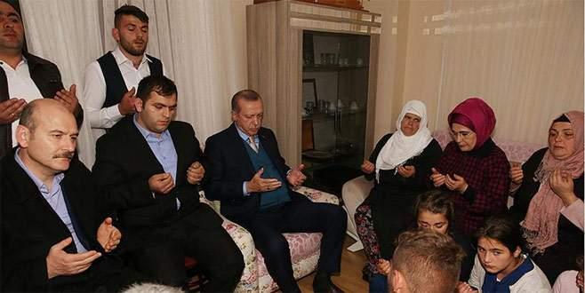 Erdoğan'dan şehit Eren Bülbül'ün ailesine ziyaret
