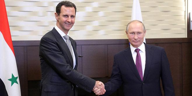 Esad Rusya'da Putin ile görüştü