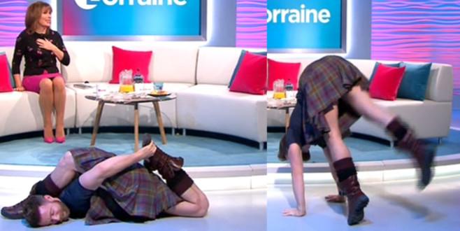 Yoga eğitmenin şovu canlı yayına damga vurdu!