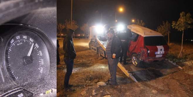 Kaza yapan otomobilin hız göstergesi 170'te takılı kaldı