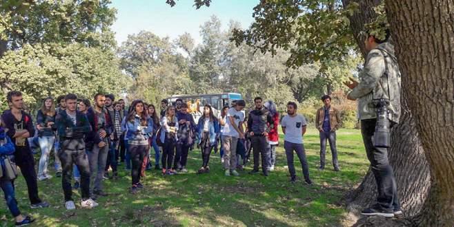 Üniversite öğrencileri longoz ormanını keşfetti