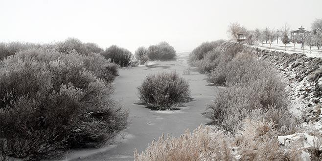 Eski 24 derecede göller ve nehirler dondu