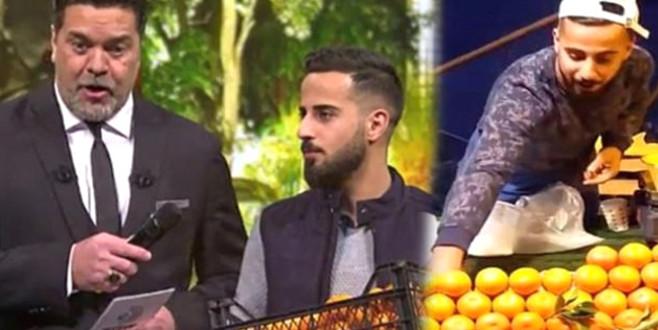 Türkiye'nin konuştuğu Bursalı mandalinacı, Beyaz Show'u salladı