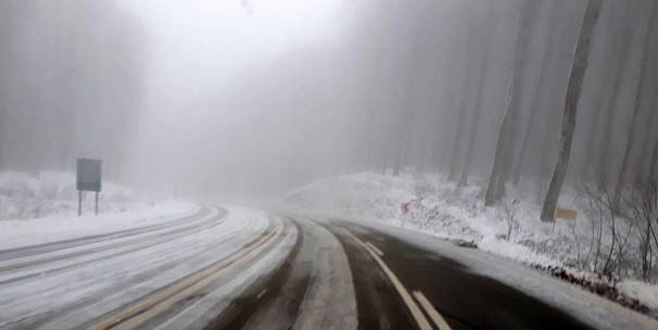 Balkanlardan beklenen kar geldi