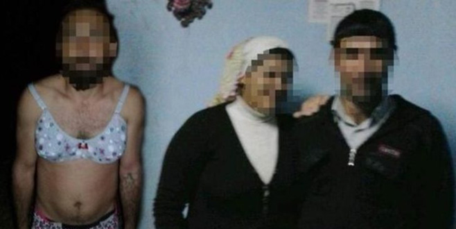 Karısının sevgilisine, kadın iç çamaşırları giydirip tecavüz etti!