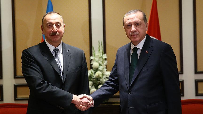 Cumhurbaşkanı Erdoğan, Azerbaycan Cumhurbaşkanı Aliyev'le görüştü