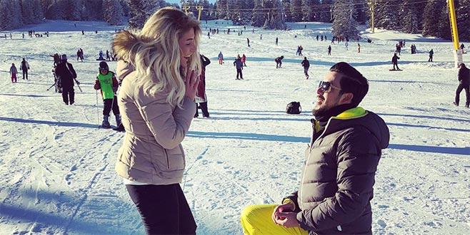 Uludağ'da evlenme teklifi