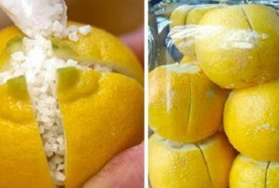 Uyurken yanı başınıza limonu bölüp içine tuz koyun!