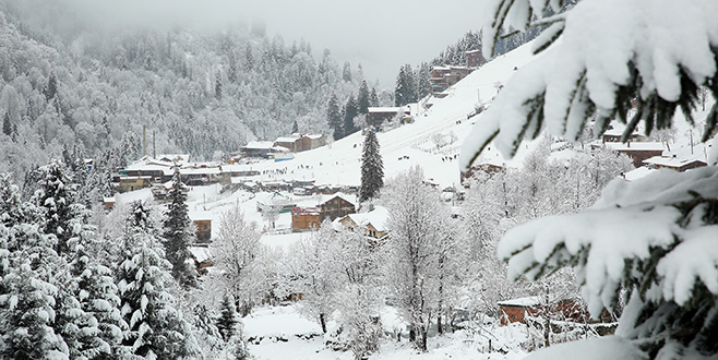 Ayder Yaylası'nda kış güzelliği
