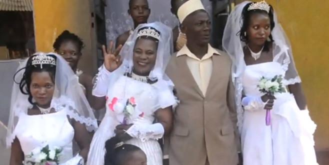 Tek düğün yapıp 3 kadınla evlendi