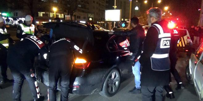 Bursa polisinden yılbaşı gecesi maganda avı