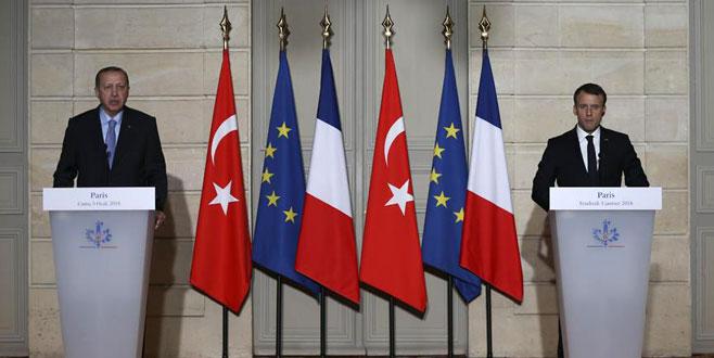 Cumhurbaşkanı Erdoğan'dan Fransa'da AB mesajı!