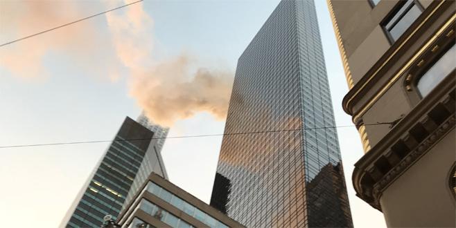 New York'taki Trump Tower'da yangın