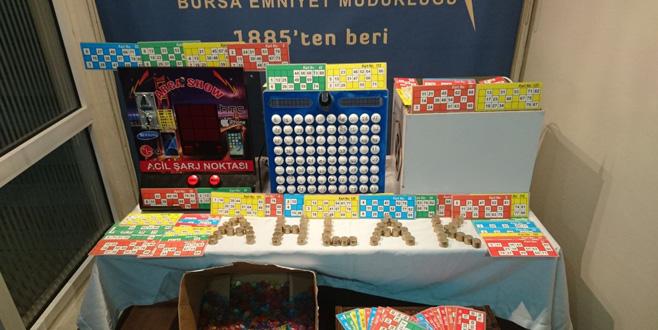 Bursa'da kumar oynatanlara geçit yok