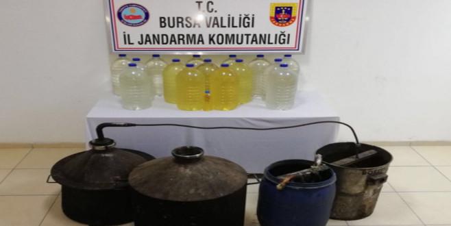 Bursa'da sahte içki üretilen eve baskın