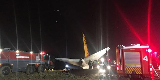 Trabzon Havalimanı'na inen uçak pistten çıktı