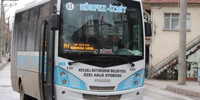Halk otobüsünü çaldı, yolcu aldı