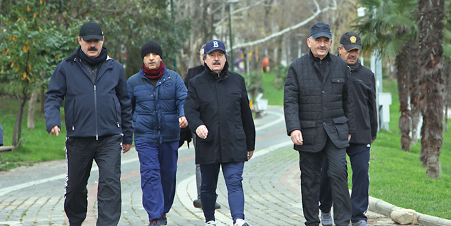 Sağlıklı yaşam için yürüdüler