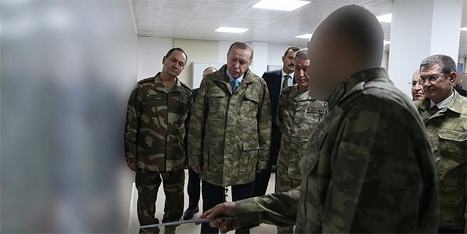 Cumhurbaşkanı Erdoğan Suriye sınırında