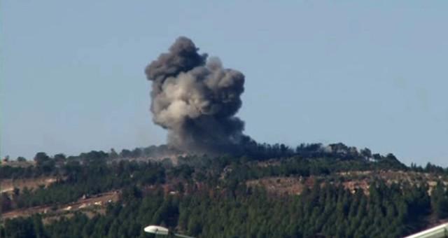 YPG'li Teröristlerin Burseya Dağı'ndaki Beton Kuleleri Bombalanıyor!