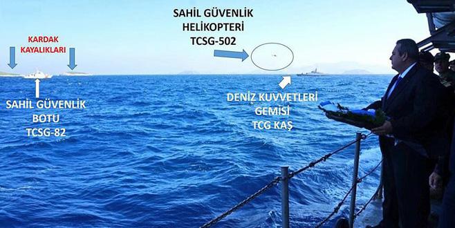 Kardak'ta gerilim! Yunan Bakan adaya yaklaştırılmadı