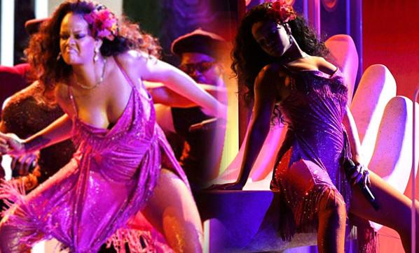 Rihanna'nın performansı ağızları açık bıraktı!