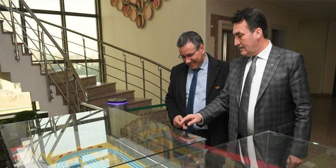 İskeçe'nin tek Türk belediye başkanından Dündar'a ziyaret