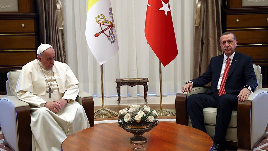 Cumhurbaşkanı Erdoğan, Vatikan'da Kudüs'ü görüşecek