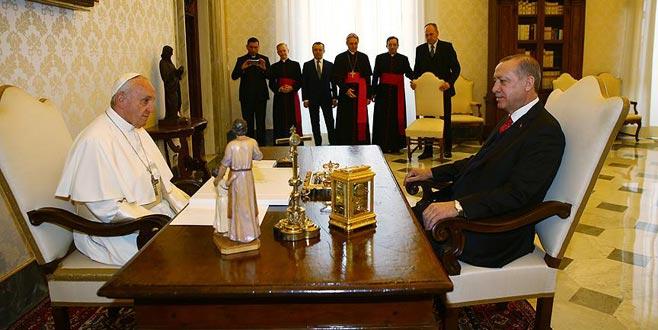 59 yıl sonra bir ilk! Cumhurbaşkanı Erdoğan Vatikan'da