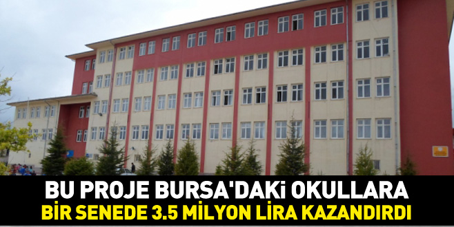 Bursa'daki okullara bir senede 3.5 milyon