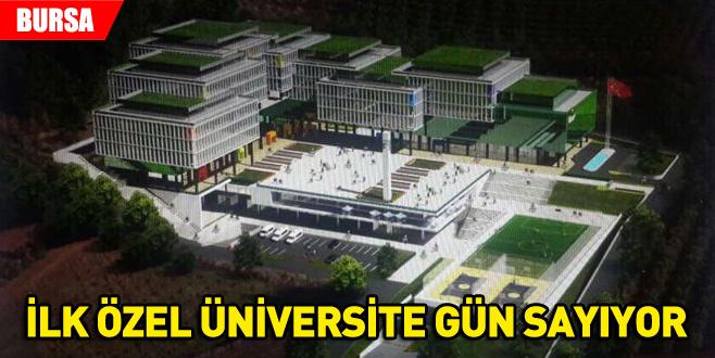 İlk özel üniversite gün sayıyor