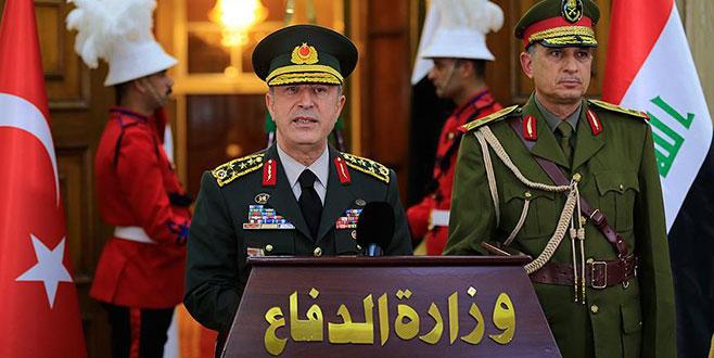 Genelkurmay Başkanı Akar'dan Irak'ta sınır güvenliği görüşmesi