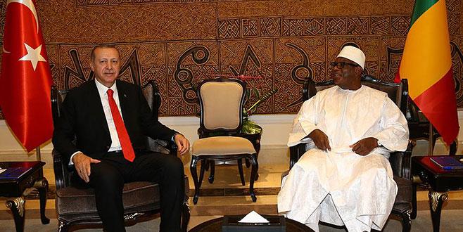 Cumhurbaşkanı Erdoğan, Mali Cumhurbaşkanı ile görüştü