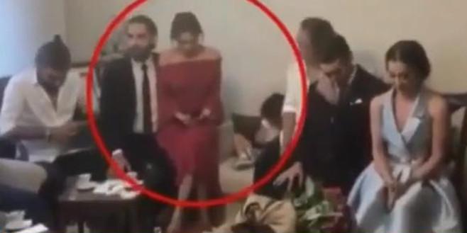 Ünlü oyuncunun kız isteme görüntüleri sosyal medyaya düştü