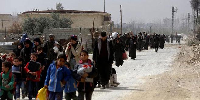 Hem Doğu Guta'dan hem de Afrin'den büyük göç