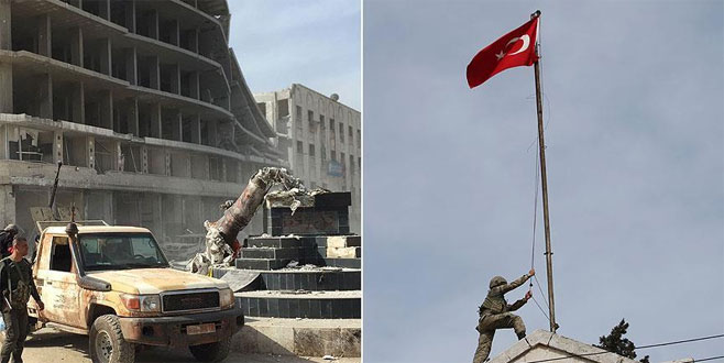 TSK ve ÖSO Afrin merkezinde!