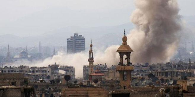 Şam'da pazar yerine roket atıldı, 28 kişi öldü