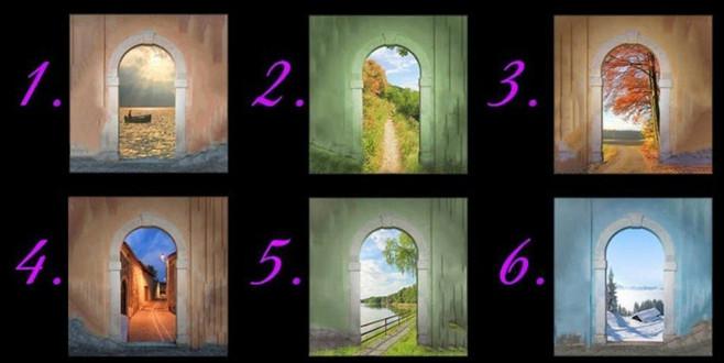 Hayattaki yolunuzu size söylüyor! Hangi kapıdan girmek isterdiniz?
