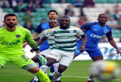 Bursaspor-Kasımpaşa maçından kareler