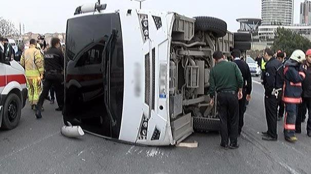 TEM Otoyolu'nda kaza!